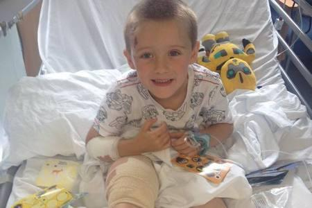 Six-year-old Redditch boy Jacob Wilderspin seriously hurt in crash recovering at Birmingham Children's Hospital